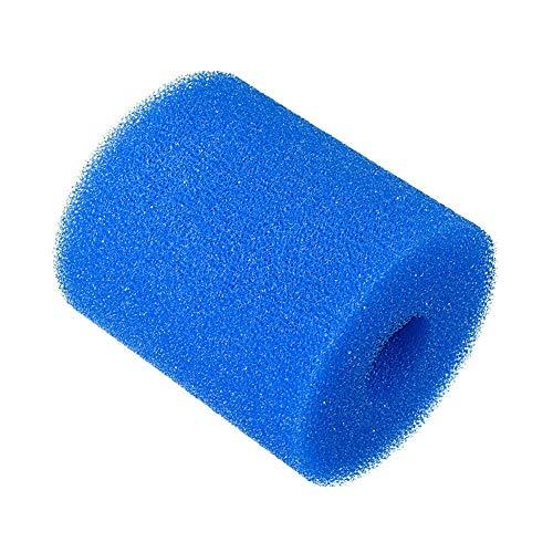 Excras Filtro de piscina de espuma de cartucho, esponja de filtro lavable, herramienta de limpieza reutilizable de repuesto para Intex tipo H azul