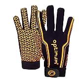 Optimum Gloves Gants de Rugby Junior Velocity, Noir/Orange, 3X-Small (Mini) Unisex-Youth