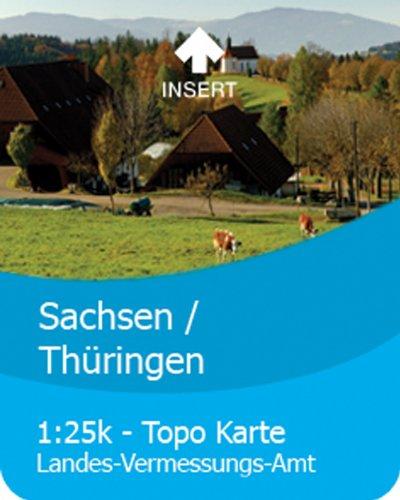 Satmap-Carte GPS 1:25 000 &de l'Allemagne 1:50 000 Sachsen-Thüringen 1:25000 & 1:50000