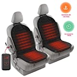 Zento Deals 2Pack 12V Heated Car Seat Cushion Premium Quality Adjustable Temperature Heating Pad Pain Reliever- New Upgraded Version for 2019, Safer Nonflammable UL Wiring