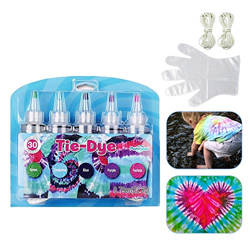 Eco Memos Tie Dye Kit 5 piezas Tie-Dye Art Kit Telas Textile