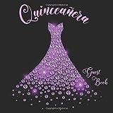 Quinceañera Guest Book: Quinceañera Party Guest Book Memory Keepsake 15 Year Old Birthday Party Purple Diamond Gown