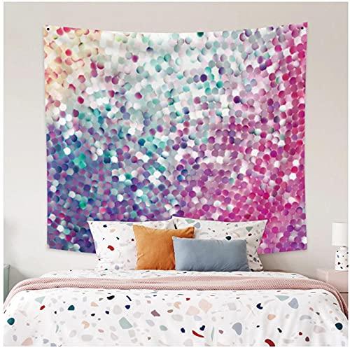 Tapiz by BD-Boombdl Color lentejuelas decorativas pared arte fondo tela colgante hogar dormitorio decoración Yoga Mat 59.05'x39.37'Inch(150x100 Cm)