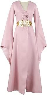 Game of Thrones Cosplay Sansa Stark Costume Dress Pink Lovely Chiffon Strap Girl