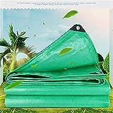 MSF Lonas Espesado doble prueba de lluvia verde de tela impermeable de protección solar del parabrisas lona de camión lluvia plástico Parasol 180g / M2 (Size : 5 * 5m)