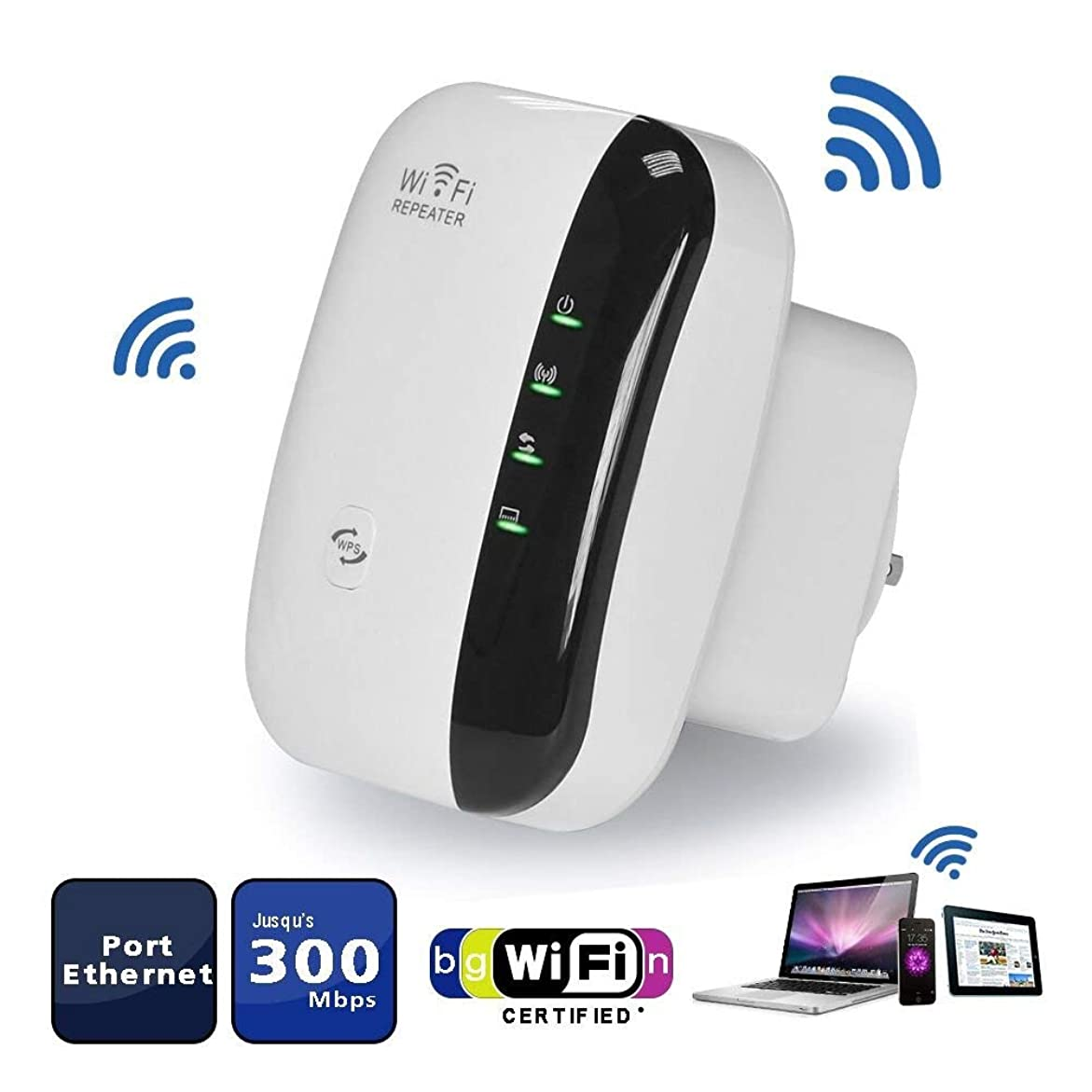 WiFi Range Extender Repeater、Aigital Wireless Repeater Easy Setupはリピーター/アクセスポイントモードをサポートし、Wifi信号を延長します