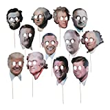 Fun Express Presidents' Day Photo Stick Props (Set of 12) Classroom and Teacher Supplies