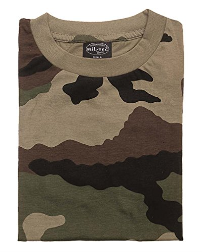 Mil-Tec US Army T-Shirt Camouflage léger,XL,Camo Ce