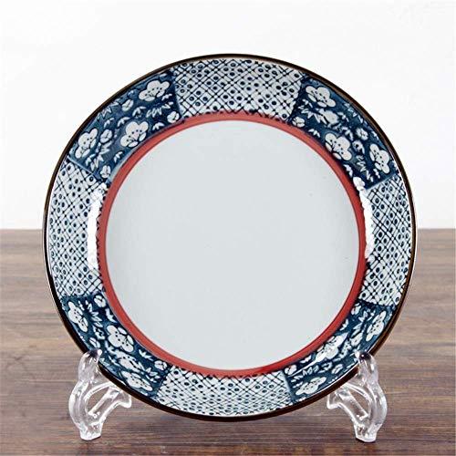 DJY-JY Japonés antiguo cerámica vajilla cerámica placa pintada a mano Underglaze 8 pulgadas arroz tazón color azul 21cm