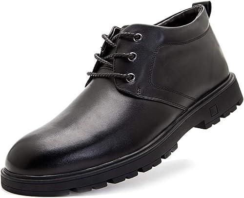 Mzq-yq Calzado Casual de Hombre Calzado de Invierno Stiefel de Hombre Calzado de Piel de Oveja Gruesa e Informal Calzado de Hombre schuhe de algodón Ropa de Vestir Fuerte