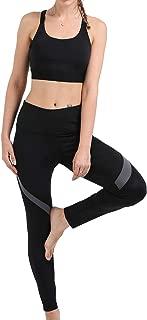 Women's 2 Pieces Outfits- Adjustable Sports Bra,Leggings Yoga Set Workout Long Pants Gym Clothing Suit