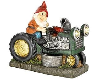 Gnome Tractor Maker Garden Feature