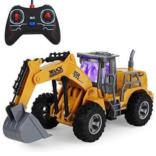 Stronrive 5 Kanal Ferngesteuert Bulldozer 360° Rotation RC Planierraupe Elektrisch Baustellenfahrzeug Sandkasten Spielzeug Bagger für Kinder Und Erwachsene