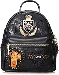 Backpack fashion trend student cartoon decoration insignia college style all-purpose mini hanging backpack