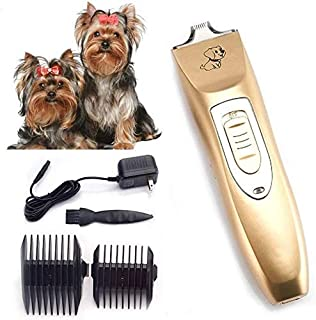 Shears Hair Cutting Tool Electric Dog Clippers Low Noise, Rechargeable Cordless Dog Trimmer Pet Grooming Tool Kit, Profess...