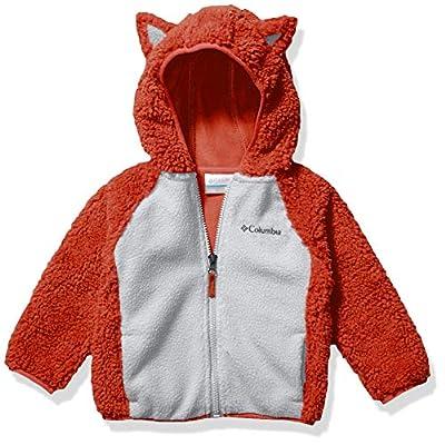 Columbia Kids' Toddler Foxy BabySherpa Full Zip, Carnelian red/Slate Grey, 2T
