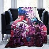 Shichangwei Gacha Life Mantas de franela ligeras para dormitorio, sala de estar, sofá, felpa, ropa de cama, regalos divertidos