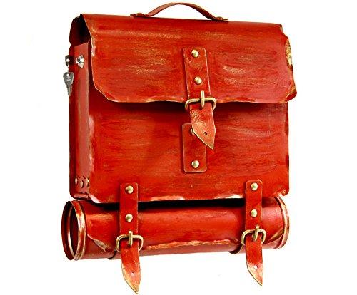 Wamat außergewöhnlich Briefkasten Postkasten rostfreier Stahl echte Schmiedekunst rot