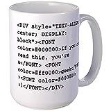 N\A Eres un Friki : Código HTML Taza Grande Taza de café, Grande Taza de café con Leche
