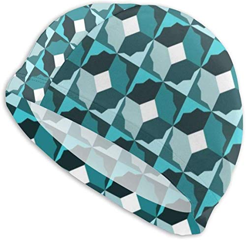 HFHY Swim Cap Hat Abstract Pattern Swimming Cap Adult, Swim Hat for Men and Women Ladies