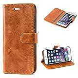 Mulbess Cover per iPhone 6s Plus, Custodia Pelle con Magnetica per iPhone 6 Plus / 6s Plus (5.5 inch) [Vinatge Case], Marrone