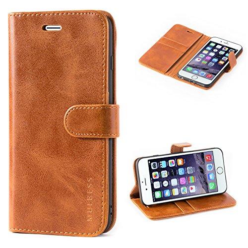 Mulbess Handyhülle für iPhone 6s Plus Hülle Leder, iPhone 6s Plus Handy Hüllen, Vintage Flip Handytasche Schutzhülle für iPhone 6 Plus / 6s Plus (5.5 inch) Case, Braun