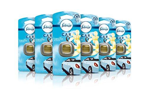 Sale!! Febreze Air Freshener Car Clip Vanilla Blossom, 1 Unit- Pack of 6
