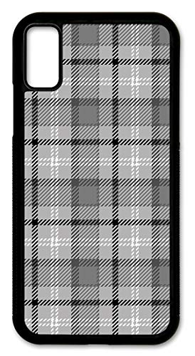 Cell Phone Cover - Slim Fit - Compatible with Apple iPhone XR - Gray and White Flannel Design