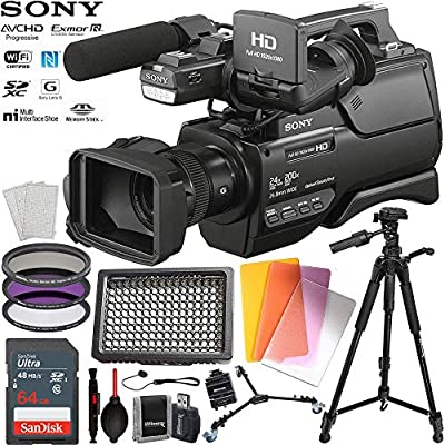 Sony HXR-MC2500 Shoulder Mount AVCHD Camcorder with SanDisk 64BG Memory Card & 160 LED Professional Video Light & More by BuyDirect
