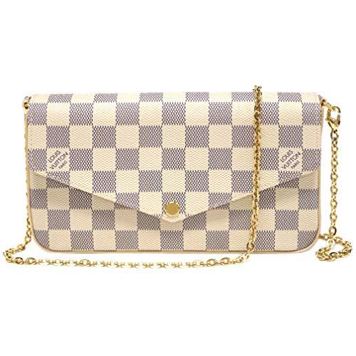 Louis Vuitton Damier Canvas Pochette Felicie Wallets Handbag Clutch Article:N63106