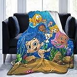 BHSTHB Bubble Guppies Blanket Soft Micro Fleece Plush Throws Blanket for Bed Sofa Car Travel Beach Lightweight for All Season 50'x40'