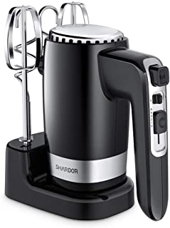 Best SHARDOR Hand Mixer Powerful 300W Ultra Power Handhold Mixer Electric Hand Mixers with Turbo Heavy Duty Motor Reviews