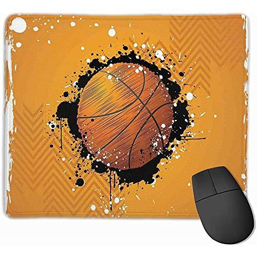Mausepad Basketball Paint Splashes Abstrakt Orange Mauspads Mat Mousepad Mit Rutschfestem Gummi Für Bürocomputer Home Laptop Gaming Mouse Pad