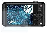 Bruni Película Protectora Compatible con Sony DSC-WX220 Protector Película, Claro Lámina Protectora (2X)