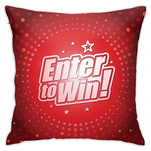 Moshow Pillowcases Cushion Covers decoration Bark Enter To Win Headline In Red Dotted Color on the Sofa car bed 45X45 CM