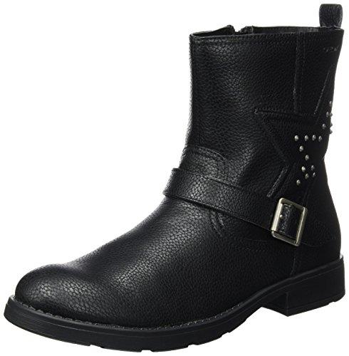 Geox Mädchen JR Sofia C Biker Boots, Schwarz (Black), 39 EU