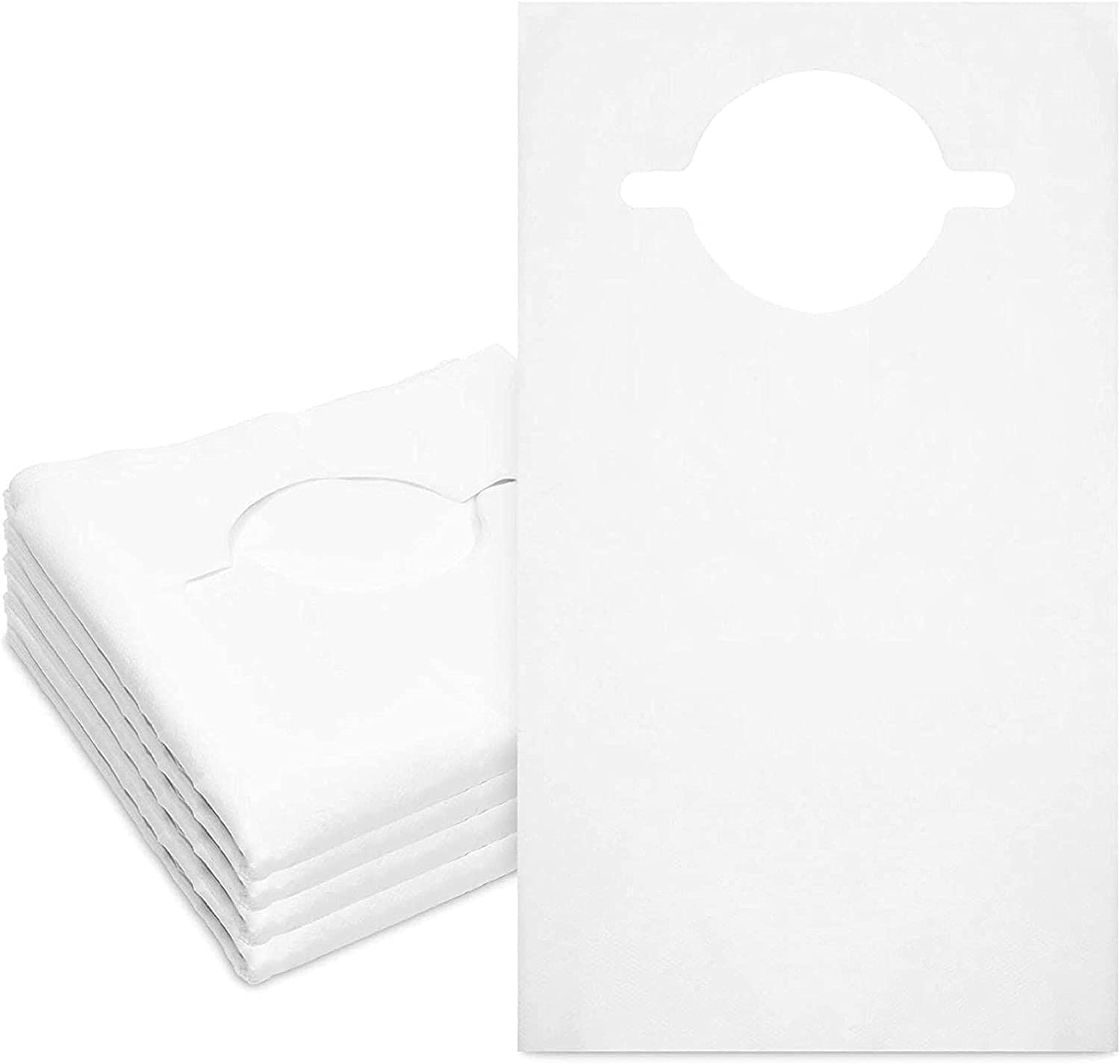 100 Under blast sales Pack Disposable Adult Bibs P Eating Max 62% OFF Single-Use Clothing for