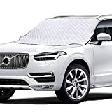 Car Windshield Snow Cover, Windshield Cover for Ice and Snow with Magnetic Edge, Thicker 4 Layers Defense Snow, Ice and Frost, Extra Large Windshield Winter Cover Fits Most Cars and SUV