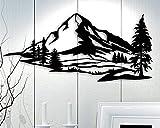 Ced454sy Metal Wall Art Montañas Decoración escandinava Idea Regalo Sala de estar Plantillas Colgantes de Montaña