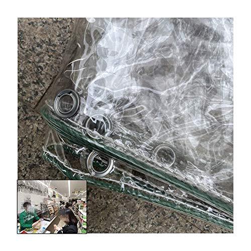 GWZSX PVC Wasserdicht Heavy Duty Abdeckplane Transparente Plane Regenschutz Zeltplane 0.3mm Dick Mit Öse Überdachung Balkon Gartenarbeit-1.8x4m Klar