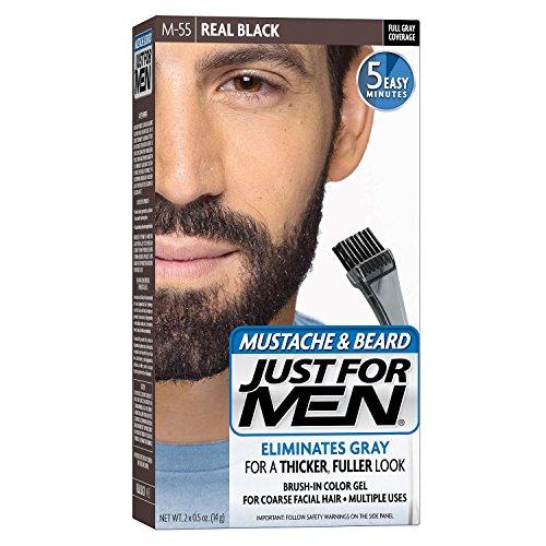 Just for Men ACI-061 Borste i färg gel för mustasch och skägg, äkta svart