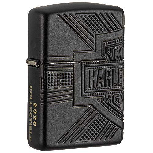 Zippo Harley-Davidson Armor Black Matte 2020 Collectible Pocket Lighter
