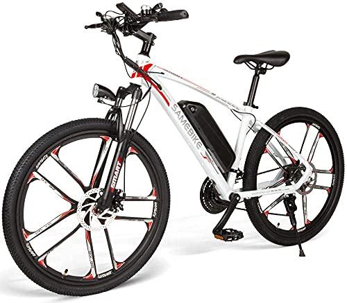 Carsparadisezone Bicicleta Eléctrica de Montaña Ciclomotor 350W 26 Pulgadas de Aluminio Bateria...