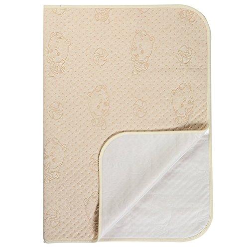 Sábana impermeable lavable y resistente al agua - Protector de colchón de incontinencia para bebés y niños adultos (Oso de color)