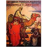 zkpzk Vintage Afrika Reise Poster Algerien Kamel Klassische