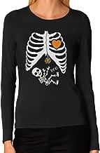 TeeStars - Halloween - Pregnant Skeleton Xray Costume Women Long Sleeve T-Shirt