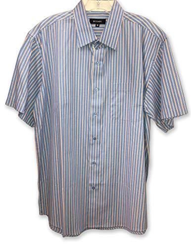 Bogari Men's Short Sleeve Button Up Dress Shirts, Assorted Colors (X-Large)