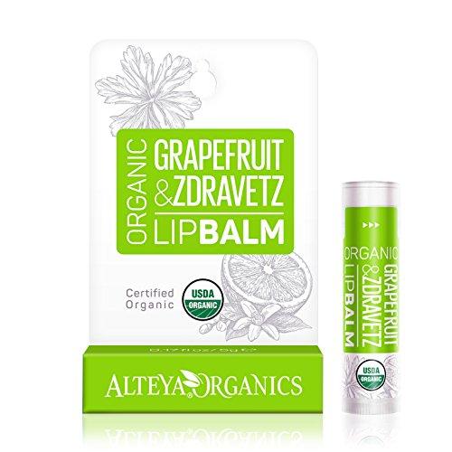 Alteya Organic Bálsamo Labial de Pomelo y Geranio 5 gr – USDA Certificado...