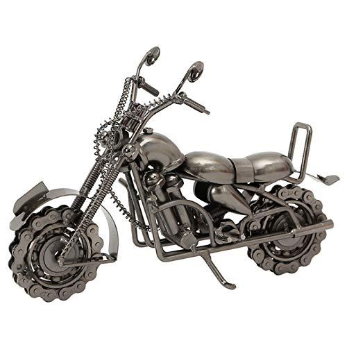 AMZYY Modelo de Motocicleta de Hierro, Modelo de Motocicleta Harley, para la Decoración de la Oficina en Casa del Regalo de Cumpleaños, Escultura de Arte Coleccionable