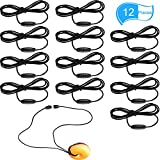 Hicarer 12 Pieces Replacement Necklace Black Cords with Breakaway Clasps, Black Nylon Cords and Safety Clasps for Chew Necklaces Pendant Necklace and Crafting Jewelry